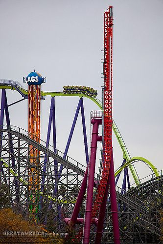 End Of 2011 At Six Flags Discovery Kingdom Roller Coaster Amusement Park Rides Six Flags