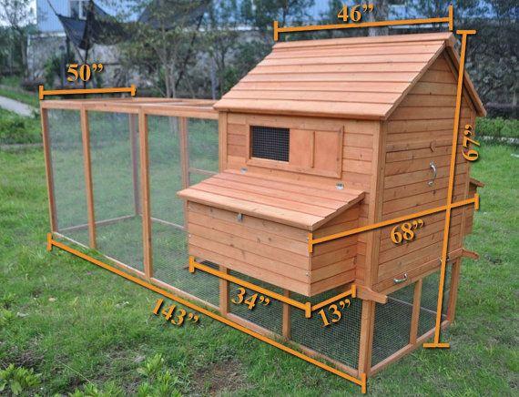 The ranch backyard chicken coop is unique in that it has a for Chicken coop for 8 10 chickens