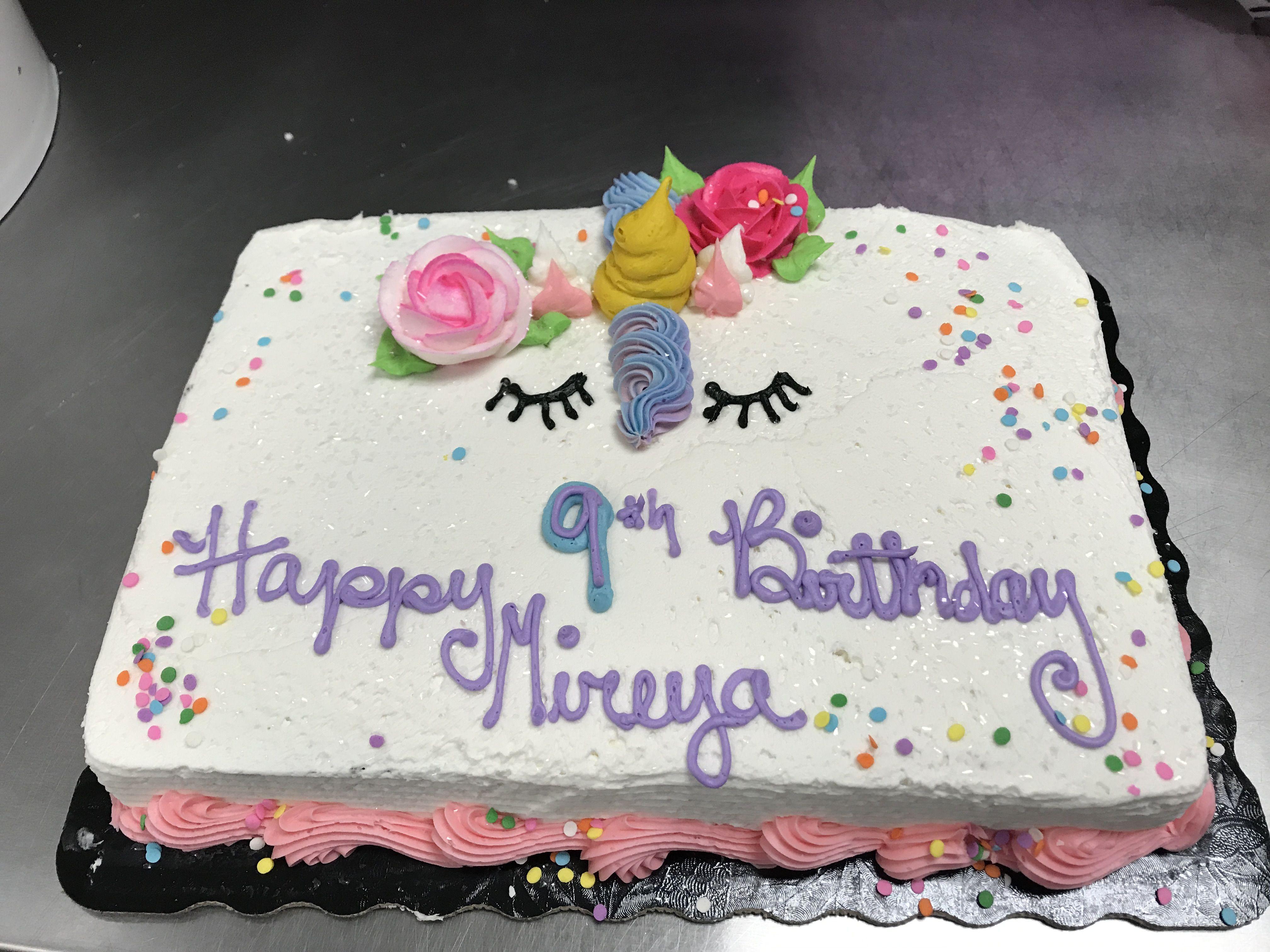 Unicorn Sheet Cake With Images Unicorn Birthday Cake Birthday