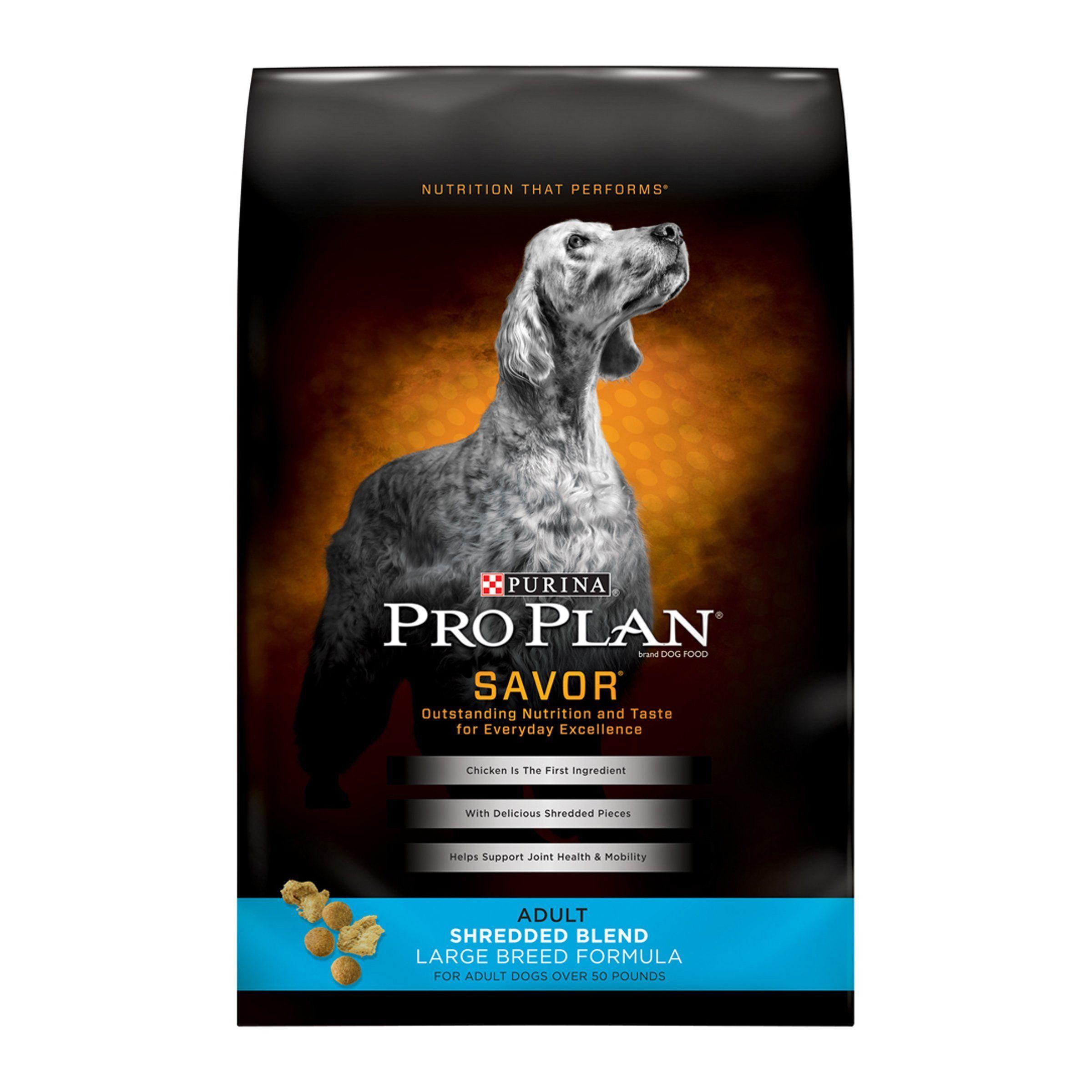 Purina Pro Plan Savor Shredded Blend Large Breed Formula Dry Dog Food Standard Packaging 34 lb. Bag