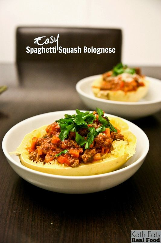 Easy Spaghetti Squash Bolognese // katheats.com