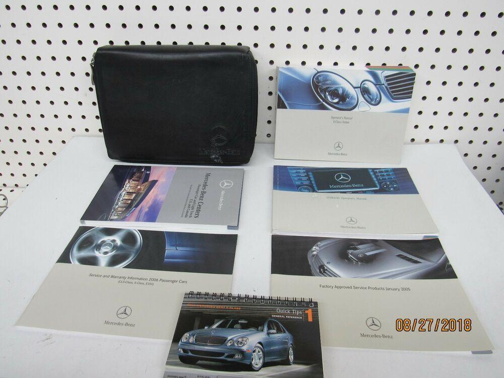 Ebay Sponsored 2006 Mercedes Benz E Class Owners Manual Set Free Shipping Mercedes Benz Cls Benz E Class Benz