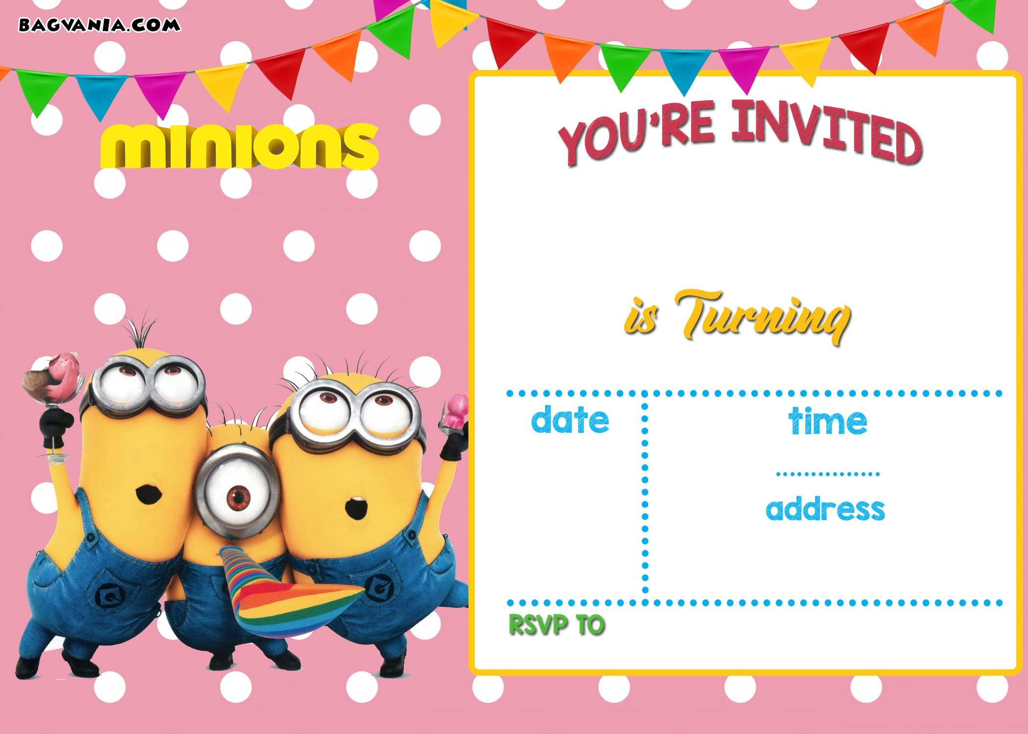 UPDATED! Bunch Of Minion Birthday Party Invitations Ideas - FREE ...