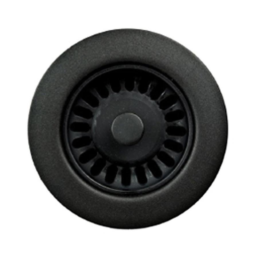 Houzer Preferra 3 5 In Matte Black Plastic Fixed Post Kitchen Sink Strainer Lowes Com In 2020 Matte Black Accessories Matte Black Kitchen Sink Strainer