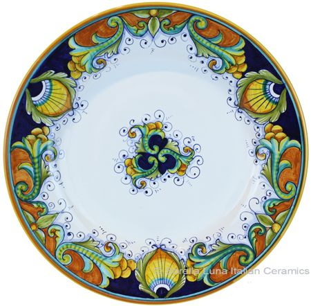 Italian Ceramic Dinner Plate - place setting for Thanksgiving!  sc 1 st  Pinterest & Deruta Italian Dinner Plate #TuscanyAgriturismoGiratola   Italian ...
