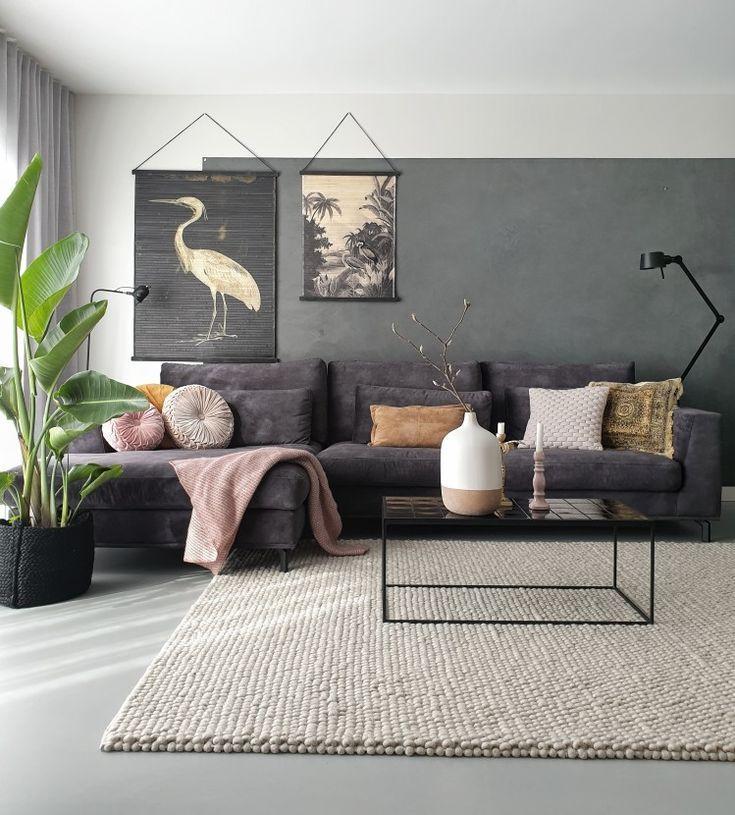 Loungebank Carmen - black, velours & beautiful - #Beautiful #Black #Carmen #inte..., #apartm...