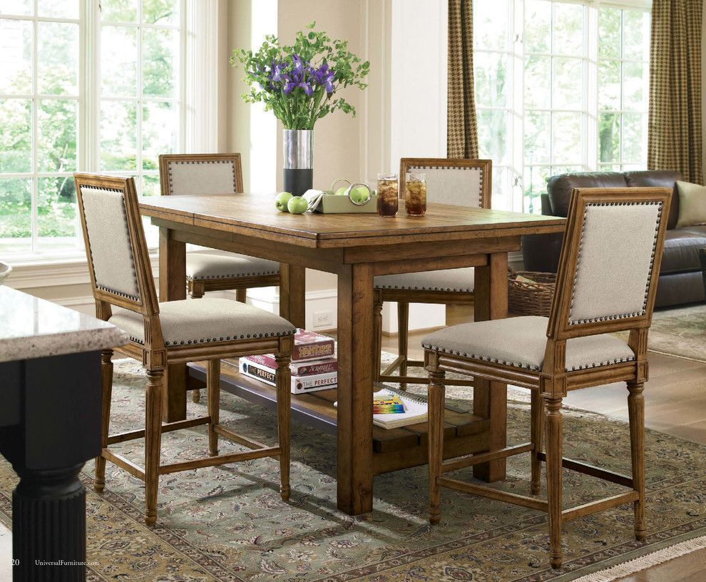 rustic counter height table dining room eclectic with counter height rh pinterest com