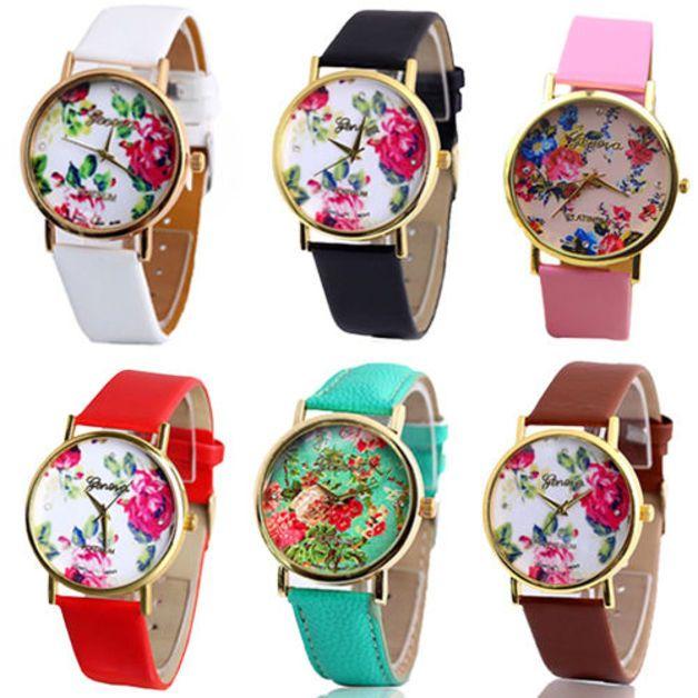 d356750b0892 Relojes de muñeca - Relojes flores vintage - hecho a mano