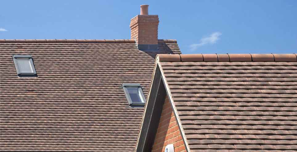 Marley Acme Antique Clay Plain Tile Is Machine Made Natural Roofing Tiles That Create Highly Textured Roofscapes With Accentuated Light And Shade