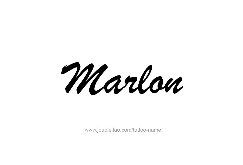 Marlon Name Tattoo