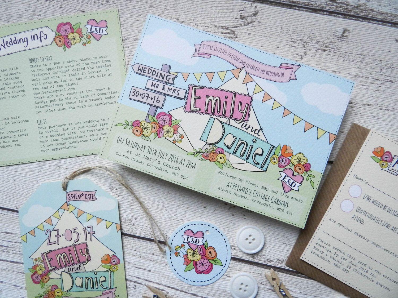 Wedfest Wedding Invitation - tipi, boho, festival wedding by PaperFudge on Etsy https://www.etsy.com/uk/listing/277907678/wedfest-wedding-invitation-tipi-boho