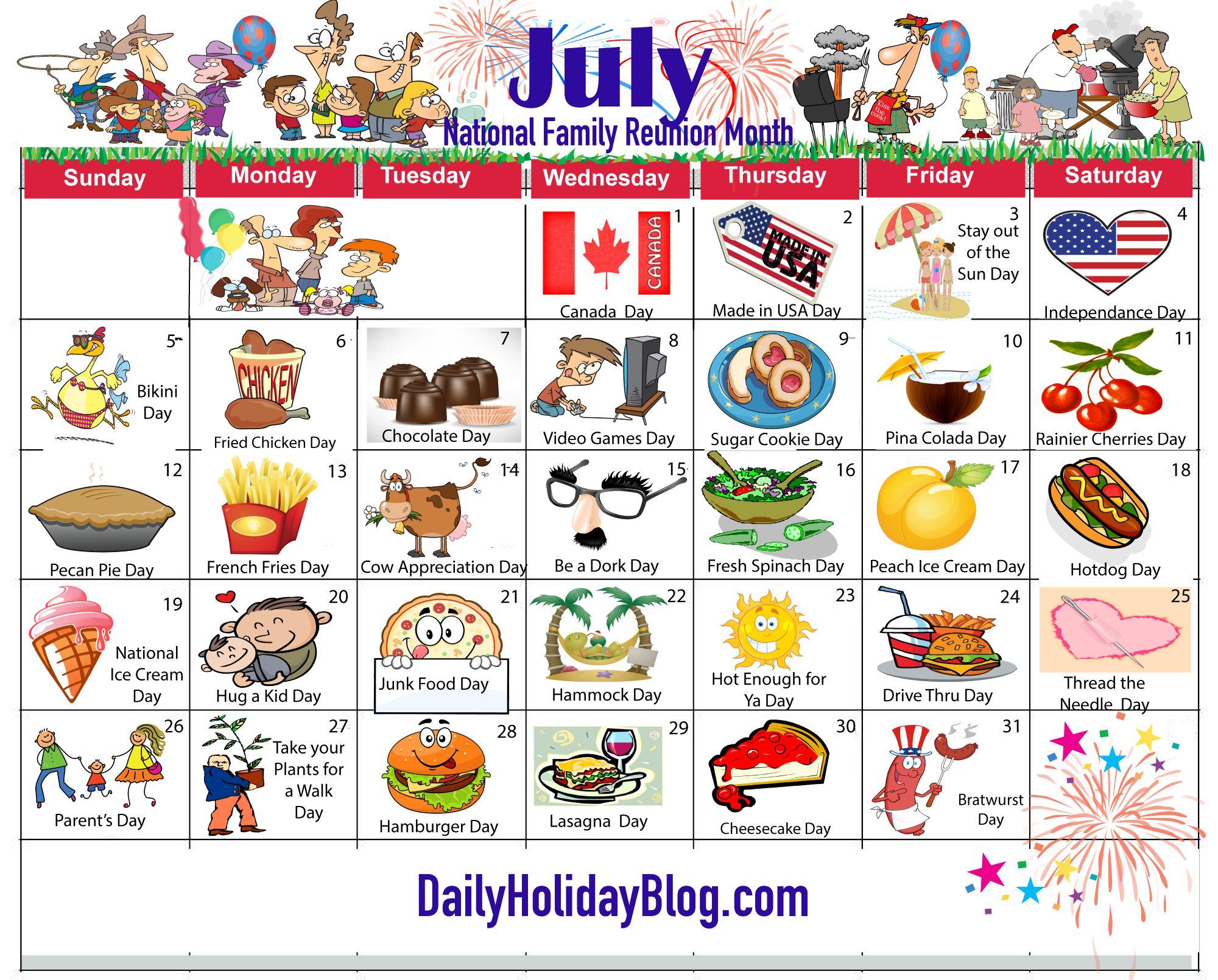 Calendar Craze June : July holiday calendar my life planner pinterest