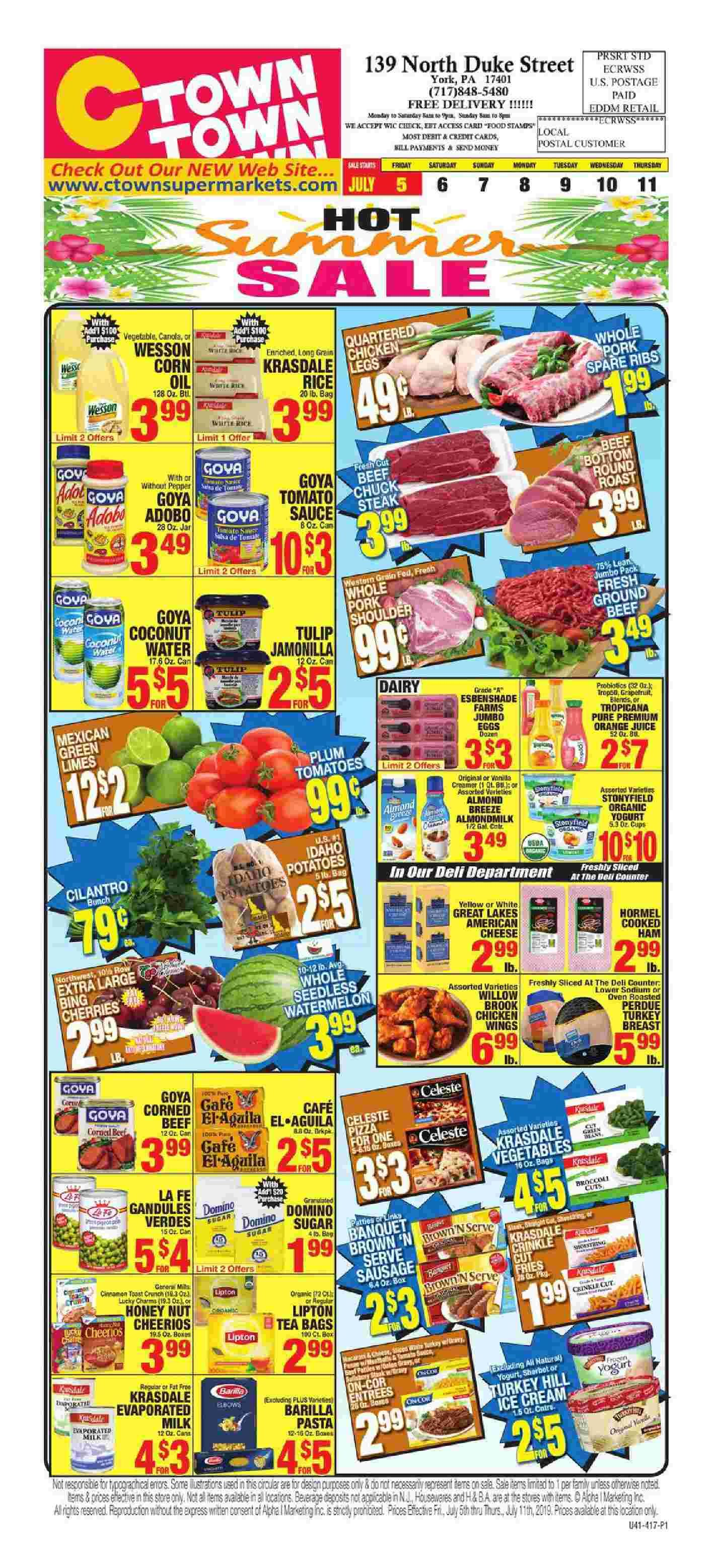 Ctown Supermarkets Weekly Ad Flyer July 5 11, 2019 チラシ
