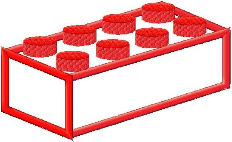 Lego Brick Machine Applique Design In 4 Sizes   Hubyo   sewing ...