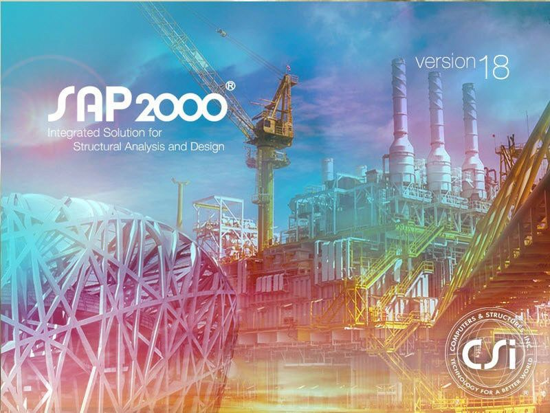 تحميل برنامج الساب 2017 بالنسختين 32 بت و 64 بت Sap2000 V18 2
