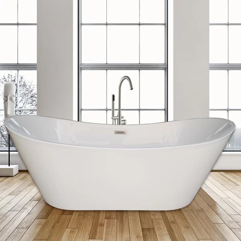 Photo of WoodBridge 67″ x 31.5″ Freestanding Soaking Bathtub