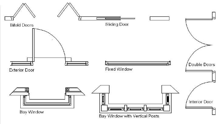 Architectural Drawing Door closet design drawing images | windows should be located