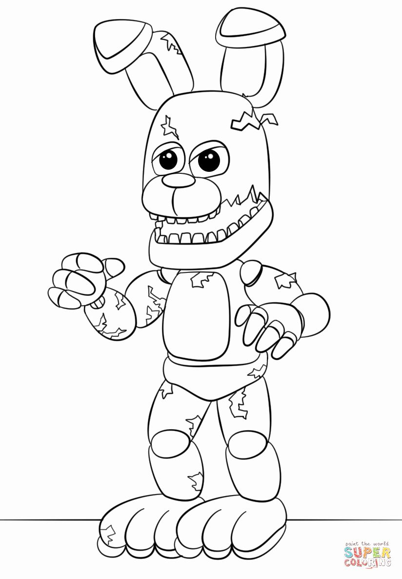 list of fnaf bonnie coloring pages