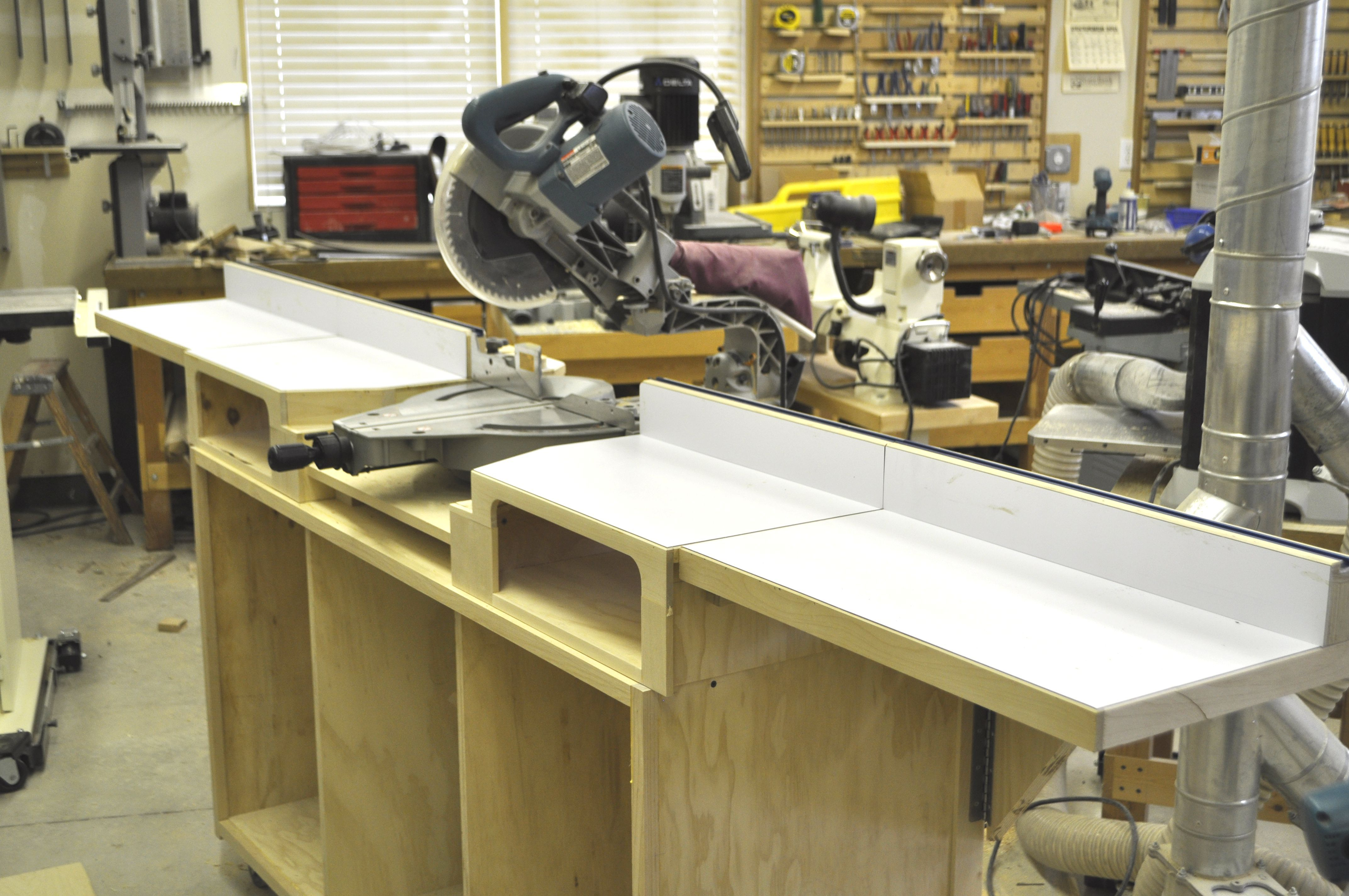 how to build a miter saw table step by step peg board anti rh pinterest com