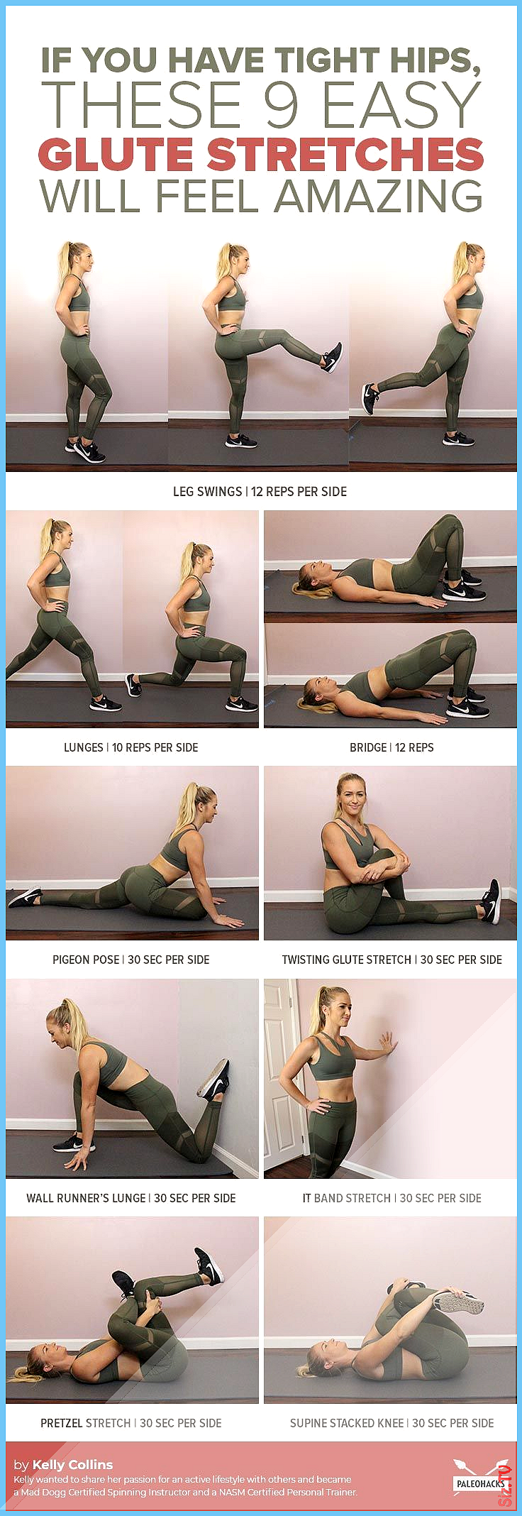 If You Have Tight Hips These 9 Easy Stretches Will Feel Amazing  PaleoHacks  Paleo Recipes Health 03...