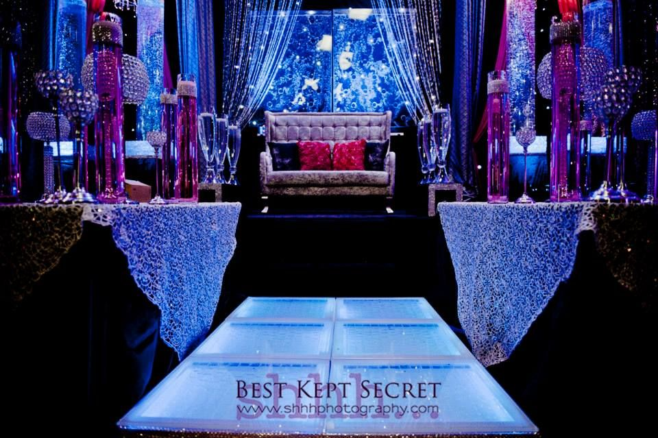 wedding stage decoration pics%0A Water wall and glowing walkway