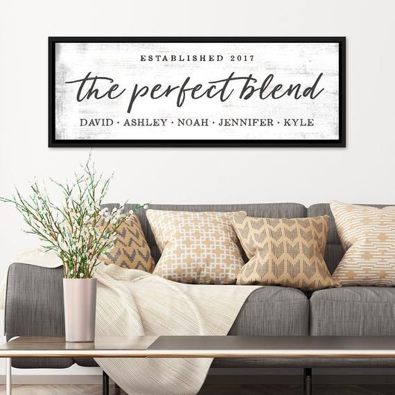 The Perfect Blend Family Sign Blended Family Signs Adopted Etsy Family Signs Home Decor Family Name Signs