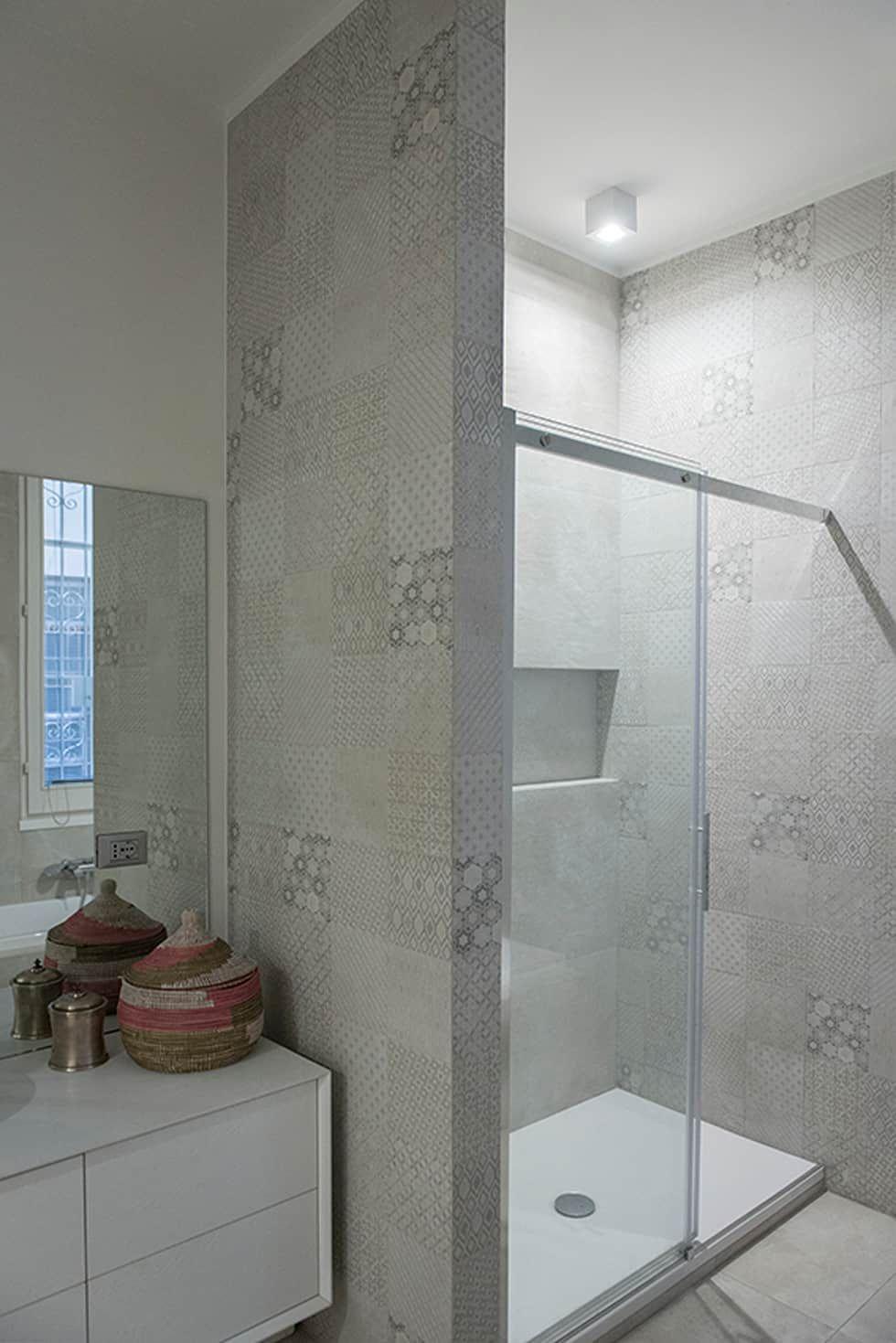 Appartamento piazza bologna_roma bagno moderno di