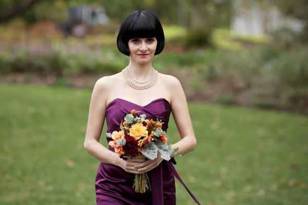 Great color for bridesmaid for autumn rustic wedding!