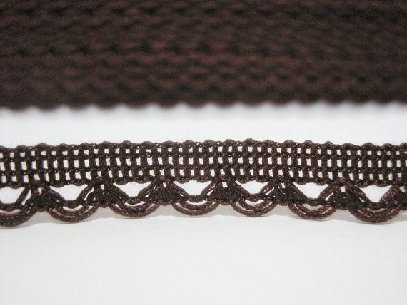 5 yards Dark Brown Lace Trim Lace Trim Crochet Lace by ichimylove