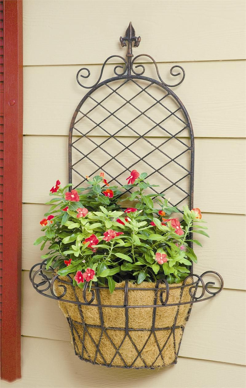 Deer Park Ironworks Llc Wall Planter Baskets On Wall Fence Decor