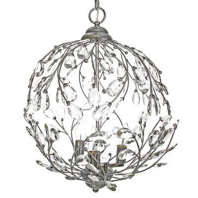 River Of Goods Garden Glam 3 Light Globe Pendant