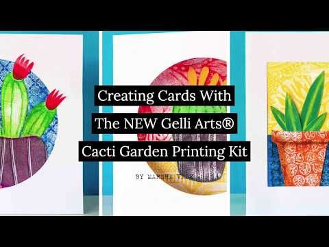 Photo of Gelli Arts® Gel Printing with the Cacti Garden Printing Kit by Marsha Valk