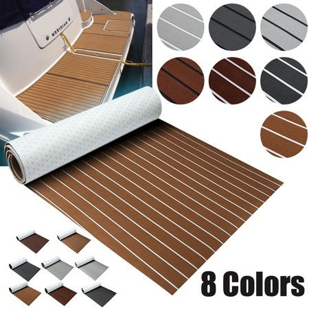 5mm Thickness EVA Foam Faux Teak Marine Mat Non-Slip Boat Flooring Decking Pad