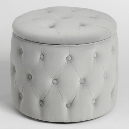 25 Cute College Dorm Decorations You Need To Buy Asap Society19 In 2020 Round Storage Ottoman Storage Ottoman Dorm Room Storage