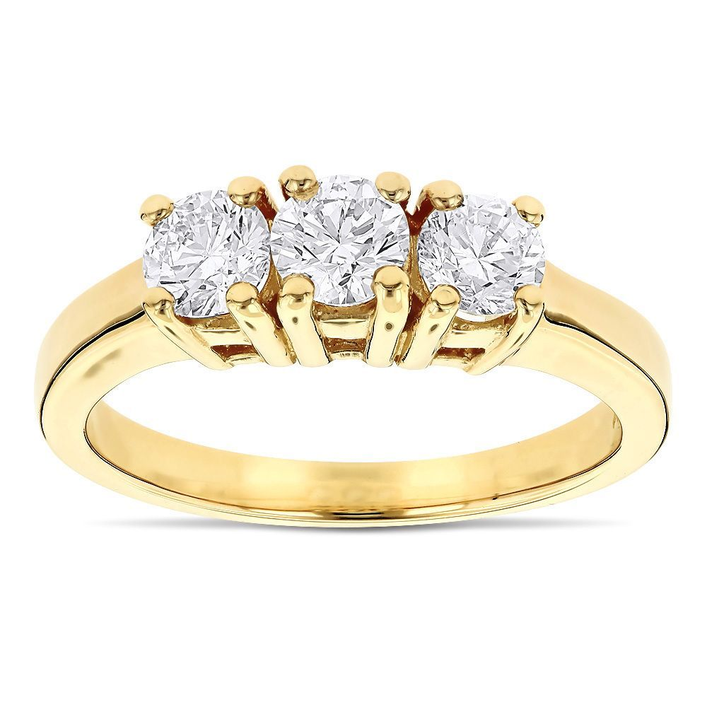 past ring gold future princess stone three wedding white cut halo present engagement rings
