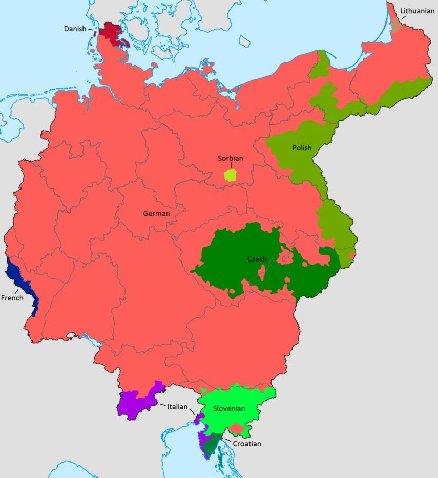 Greater germany ethnic map old version by lehnaru 24221 greater germany ethnic map old version gumiabroncs Images