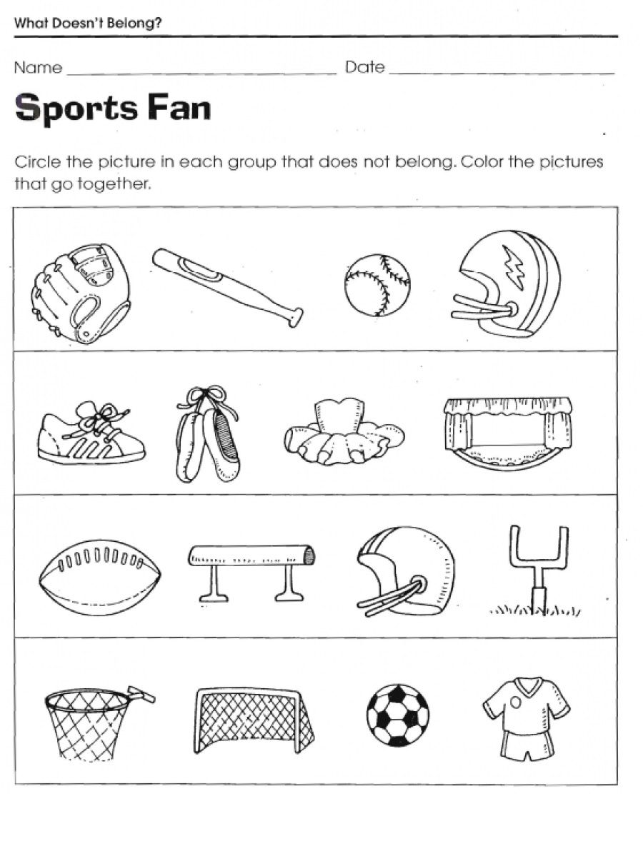 sports worksheets for kids activity language reading center sports activities for kids. Black Bedroom Furniture Sets. Home Design Ideas