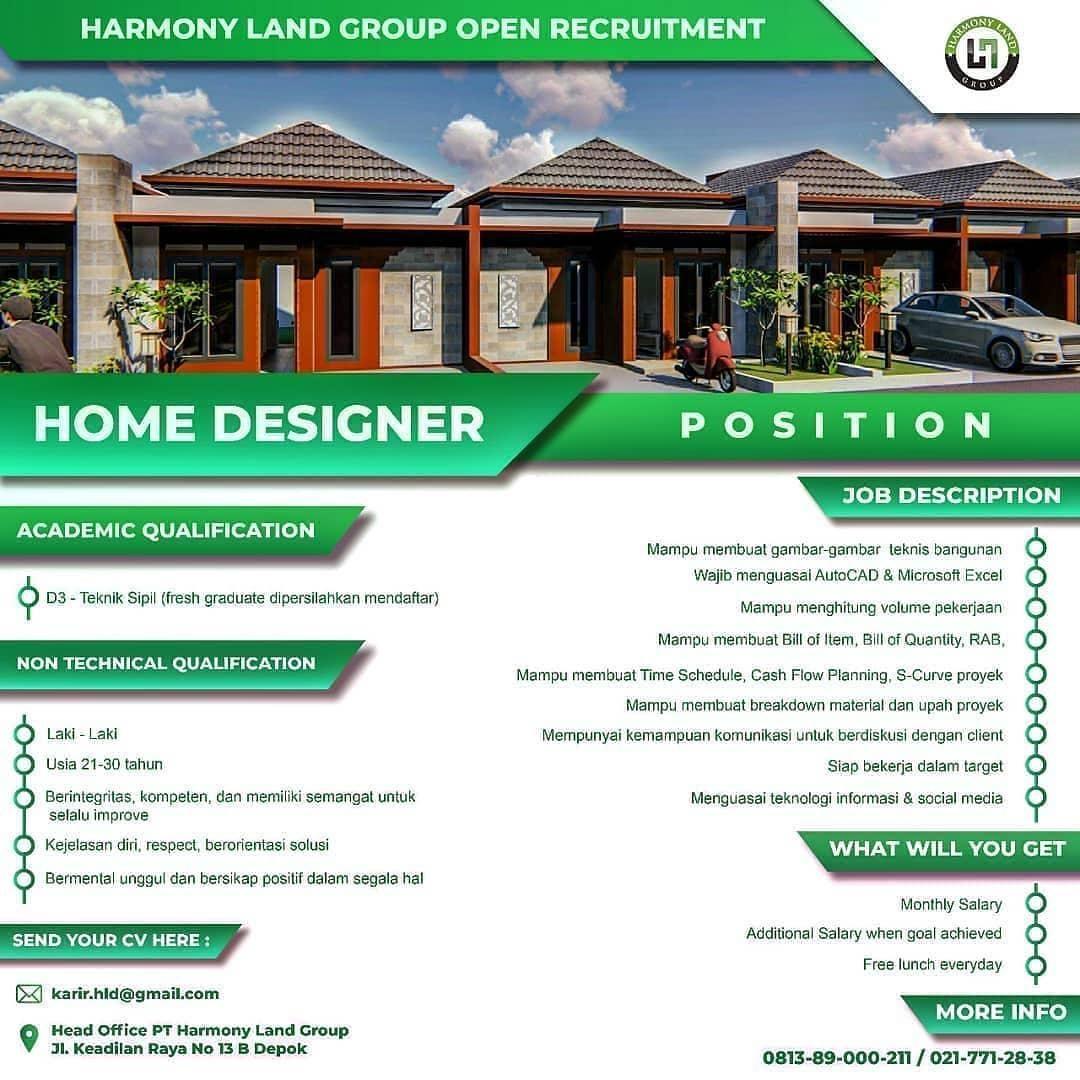 Lowongan Kerja Pt Harmony Land Group Teknik Sipil Bangunan Teknik