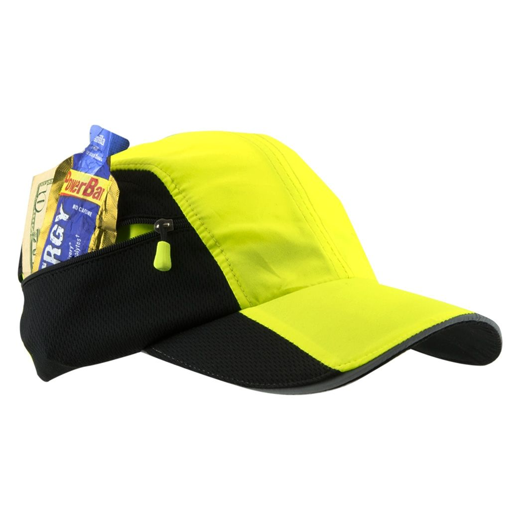 7706a6fb8f5 Ultra Pocket Hat for Runners - Safety Yellow