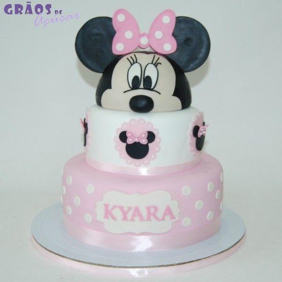 Minnie - Orelhas - Grãos de Açúcar - Bolos decorados - Cake Design ... 9e8255f321