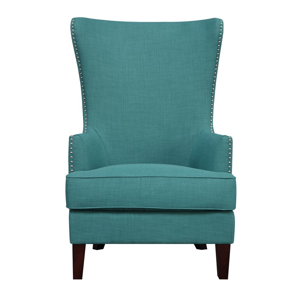 Unbranded Kegan Teal Accent Chair Ukr087100ca The Home Depot Accent Chairs Teal Accent Chair Picket House Furnishings