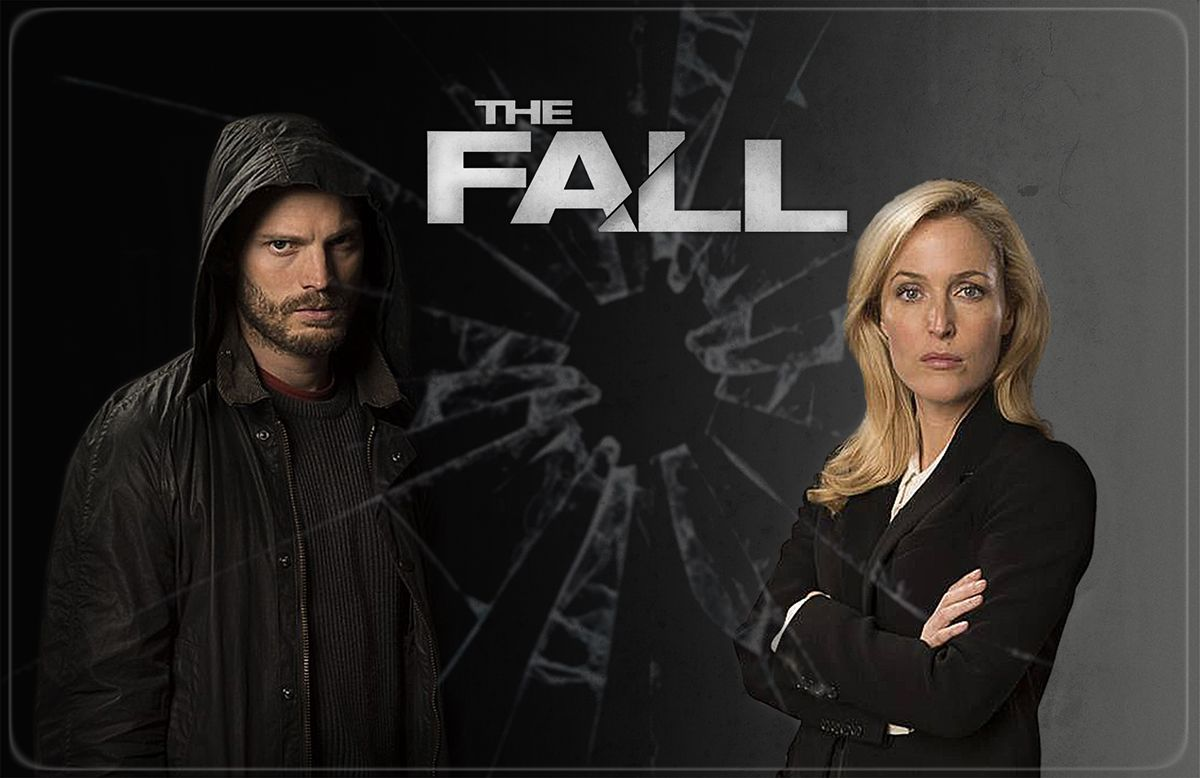 The Fall. Gillian as Stella Gibson. Collage