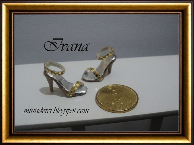 "Mianiature shoes ""Colección Gold"""