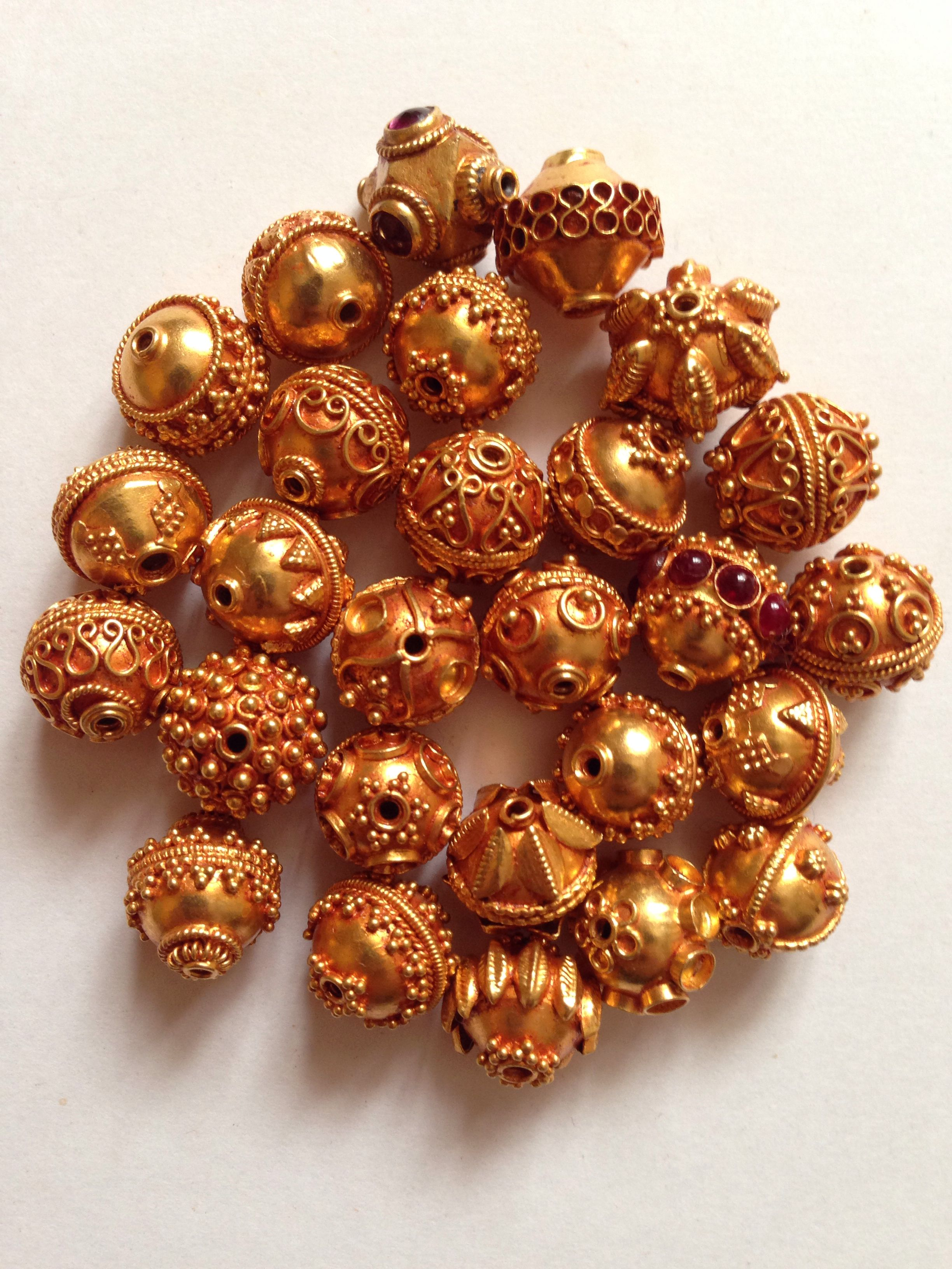 Handmade Gold Beads With Fine Granulation Technique Ethnic Jewellery In Search Of Beauty