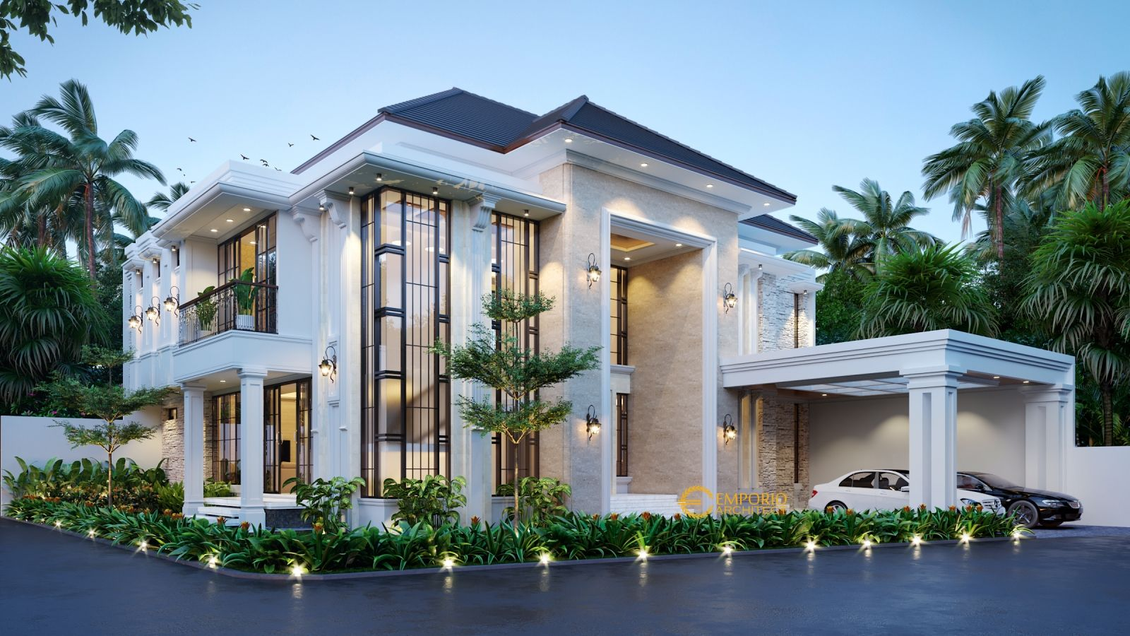 Desain Rumah Mewah Clasic Modern Cek Bahan Bangunan