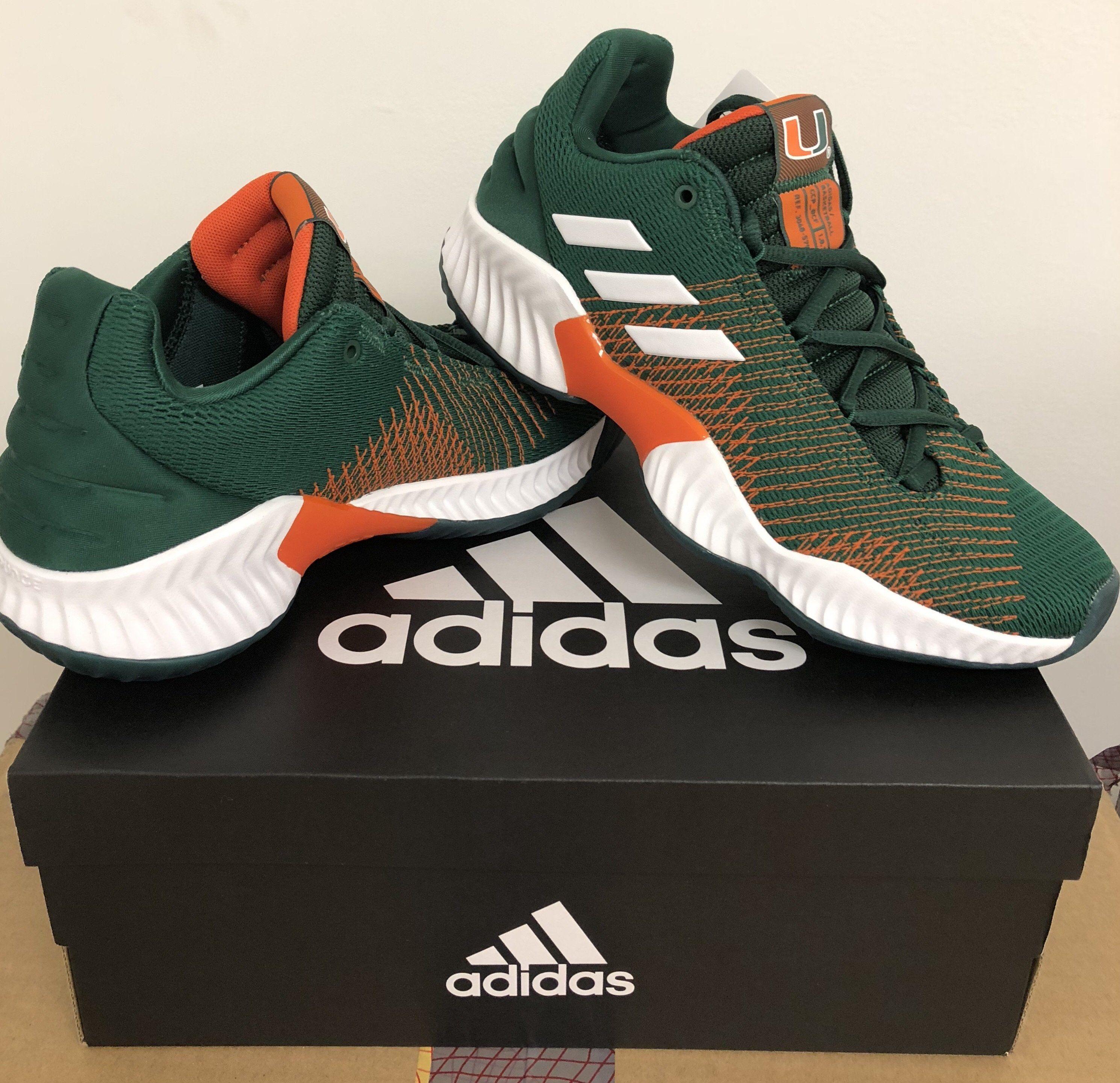 Miami Hurricanes adidas Pro Bounce Shoe Sneaker Green