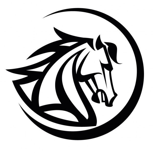 pin by horse logos on equine graphics pinterest black horses rh pinterest com Yin Yang Border Cool Vector