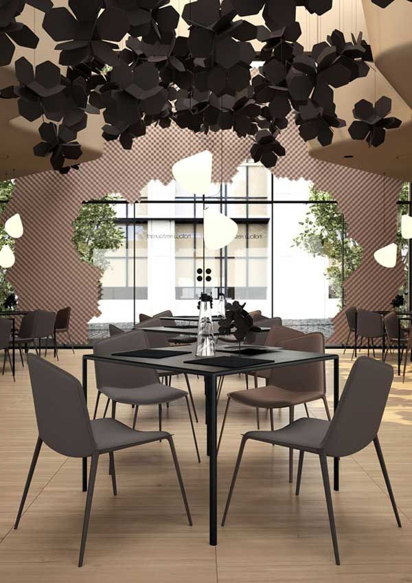 flower inspired restaurant design in natural colors design casa rh pinterest com