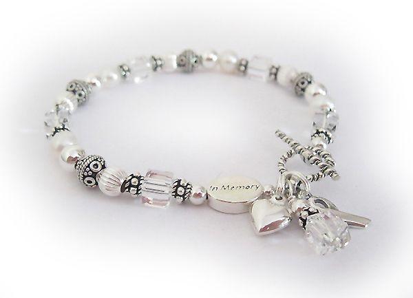 I Love You T Lung Cancer Awareness Bracelets