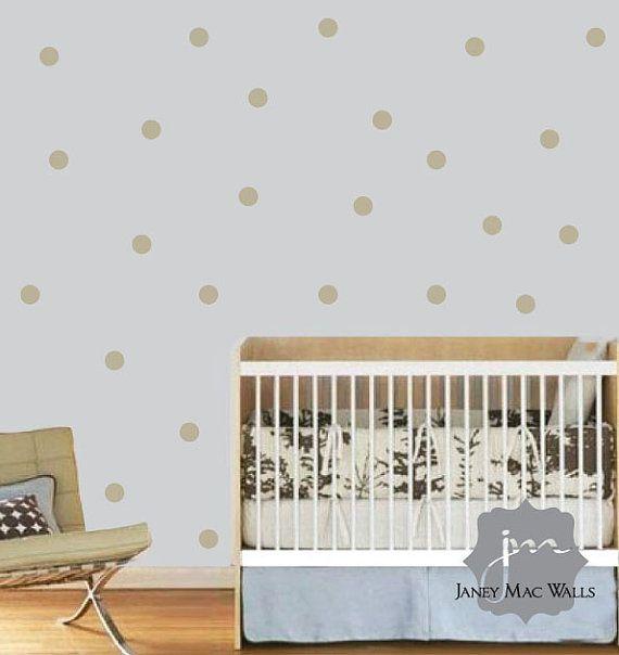 Polkadot Wall Sticker Decal Polka Dot Wall Decal Circle Vinyl Wall Art Polka Dot Nursery Wall De Polka Dot Walls Polka Dot Wall Decals Nursery Wall Decor